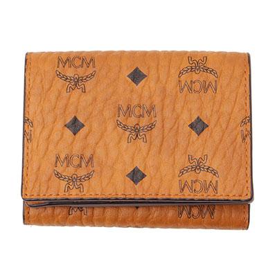 MCM コンパクト財布 ブラウン