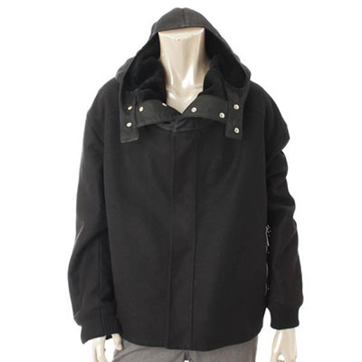 ディオールオム フーデッドコート ブラック