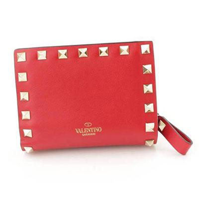 ヴァレンティノ ロックスタッズ コンパクト財布 レッド RW2P0620BOL