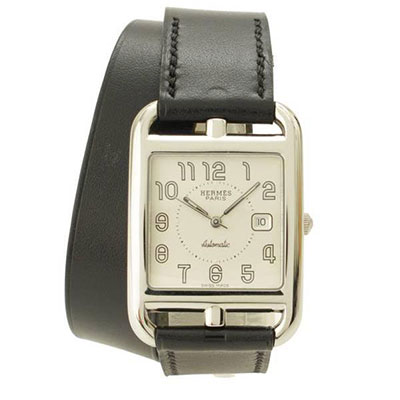 エルメス ケープコッド ドゥブルトゥール 腕時計 マルジェラ期 CC1.710 ブラック □D刻