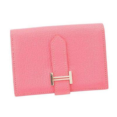エルメス ベアン カードケース ピンク