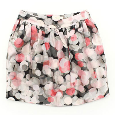 ケイトスペード ドット シルク混 ミニスカート ピンク