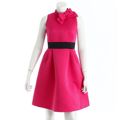 ケイトスペード フラワー ノースリーブ ワンピース ピンク