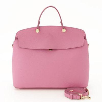フルラ マイパイパー 2way レザー ハンドバッグ ピンク