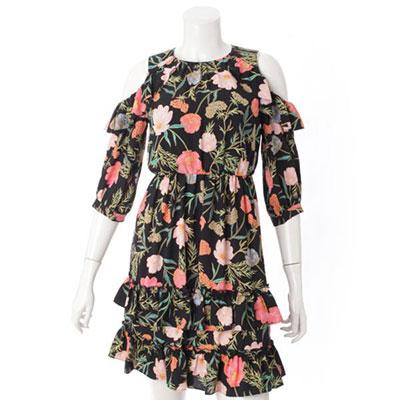ケイトスペード 花柄 ドレス ワンピース ブラック