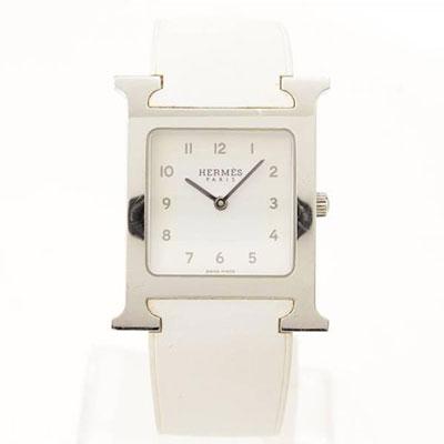 エルメス Hウオッチ 腕時計 ラバーベルト HH1.510.ホワイト