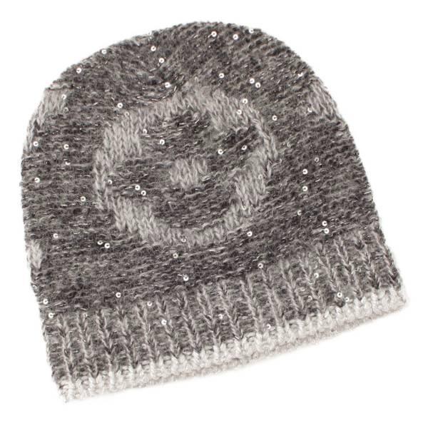 ルイヴィトン ボネ モノグラム グリッター ニットキャップ ニット帽 M74772 グレー