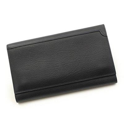 ジョンロブ レザー 三つ折り 長財布 ネイビー