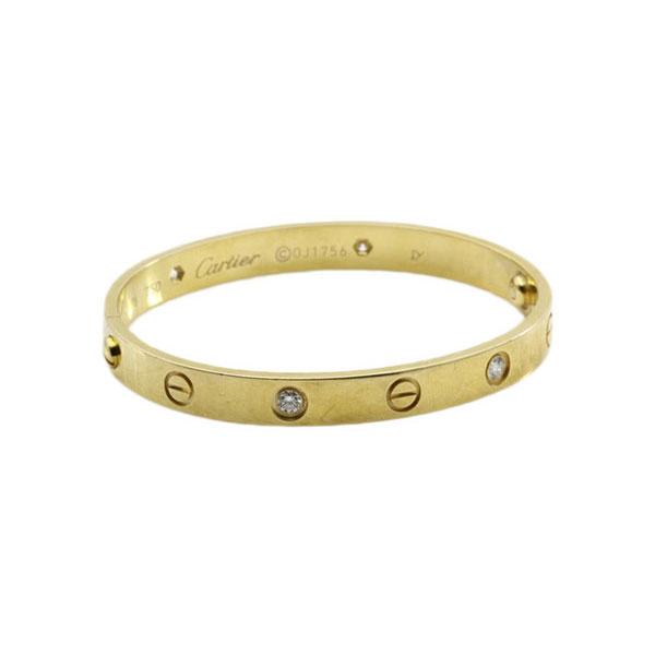 カルティエ ラブブレスレット YG 4P ダイヤモンド