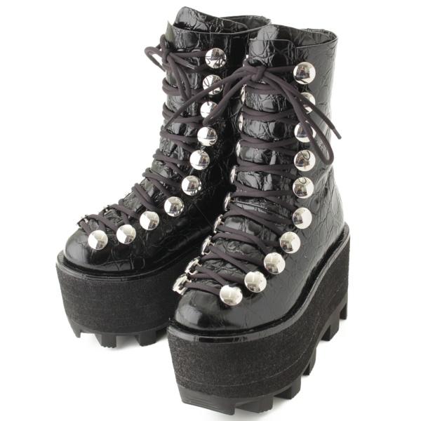 アレキサンダーワン 厚底ブーツ ブラック
