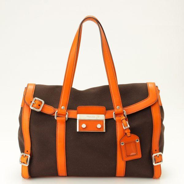 プラダ ショルダーバッグ BR2998 ブラウン×オレンジ