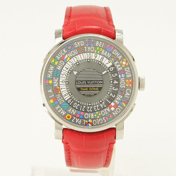 ルイヴィトン エスカル オートマティック タイムゾーン Q5D20 自動巻き 腕時計