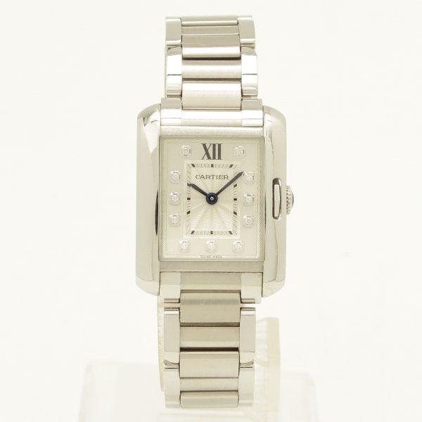 カルティエ アングレーズSM 11Pダイヤ ウォッチ 腕時計 W4TA0003