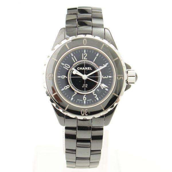 シャネル J12 H0682 クオーツ 腕時計 ブラック