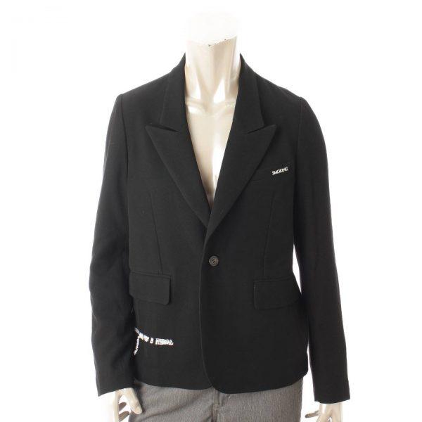 クリスチャンダダ 18SS スモーキング 刺繍 ジャケット ブラック
