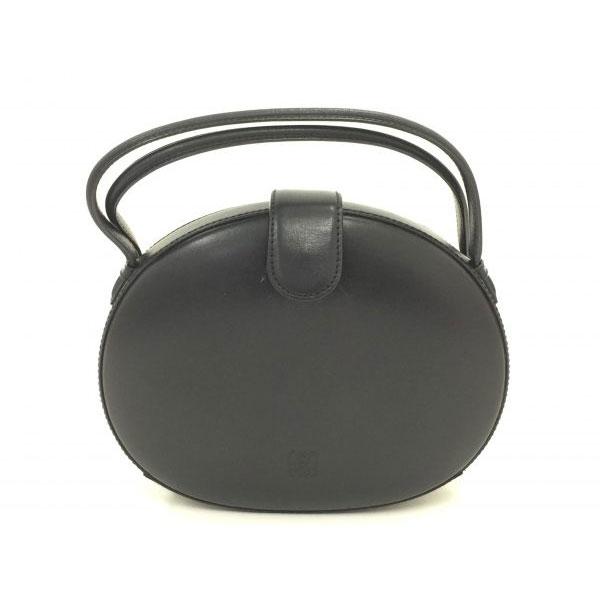 ロエベ 丸型 ラウンド ハンドバッグ ブラック