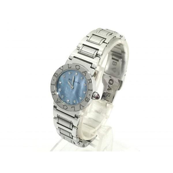 ブルガリ ブルガリブルガリ BBL26S 12P ブルーシェル 腕時計