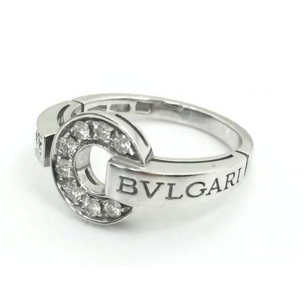 ブルガリブルガリブルガリ ダイヤモンド リング 750WG 4.9g 9.5号