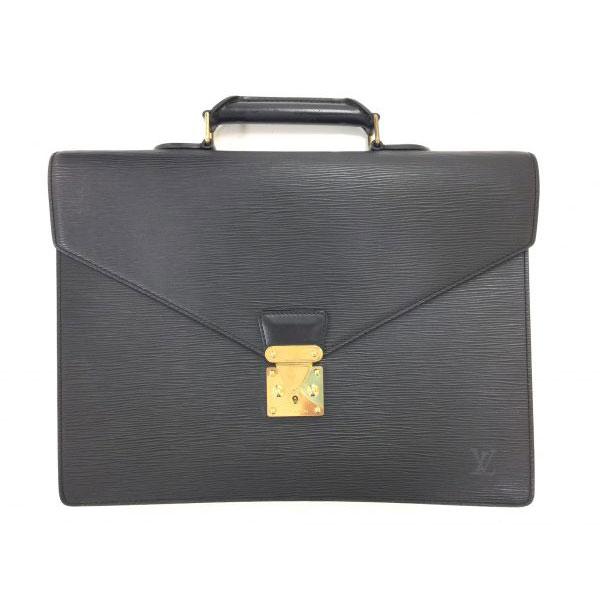 ルイヴィトン エピ セルヴィエット コンセイエ ビジネスバッグ ブラック M54422