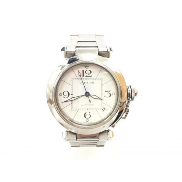 カルティエ パシャC メンズ 白文字盤 腕時計 W31074