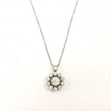 ティファニー エンチャントフラワー 12Pダイヤモンド ネックレス Pt950