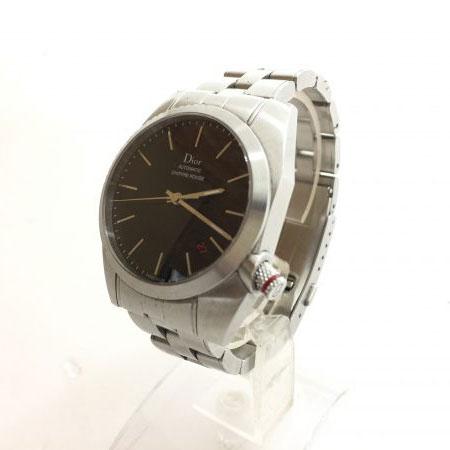ディオールオム シフルルージュ 黒文字盤 自動巻き メンズ 腕時計 CD084510