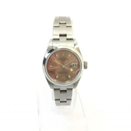 ロレックス オイスターパーペチュアル デイト レディース 腕時計 79160 ピンク A番