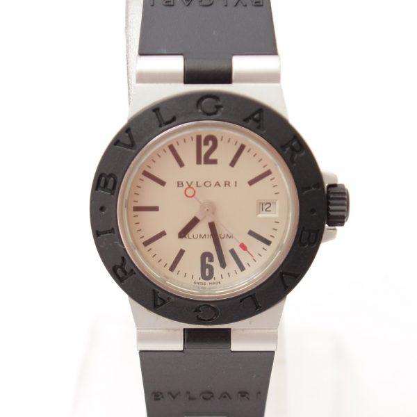 ブルガリ アルミニウム ラバー デイト AL29A クォーツ 腕時計