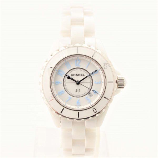 シャネル J12 セラミック 時計 ブルーライト クオーツ H3826 2000本限定モデル