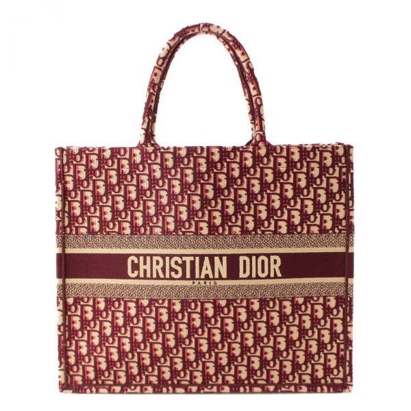 クリスチャン ディオール(Christian Dior) BOOK TOTE ブックトート オブリークバッグ M1286ZRIW_M974 バーガンディ
