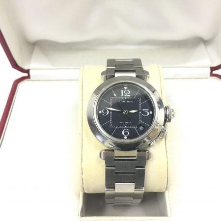 カルティエ パシャC W31076M7 黒文字盤 腕時計