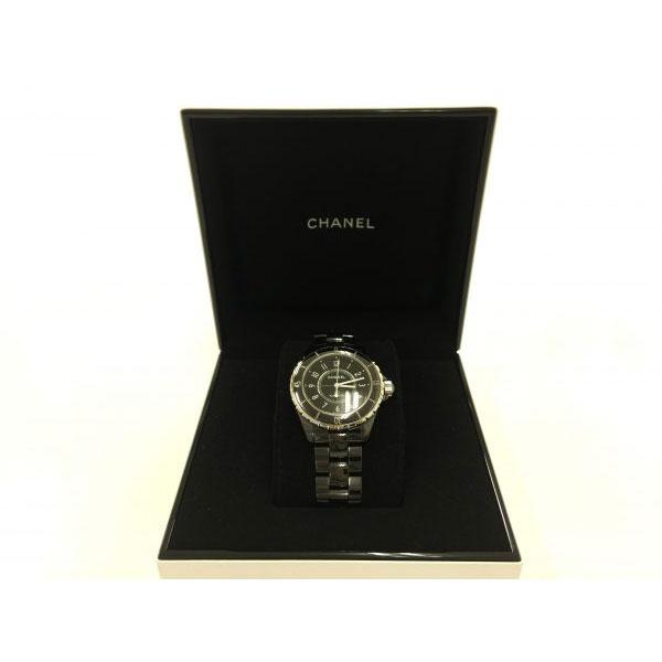 シャネル J12 H0685 メンズ セラミック ブラック 時計