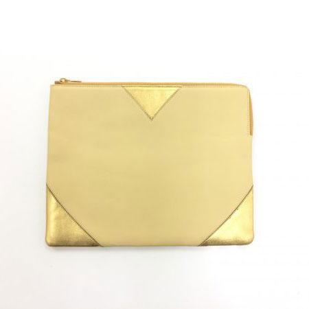 セリーヌ ラムスキン クラッチポーチ iPadケース ゴールド 102413