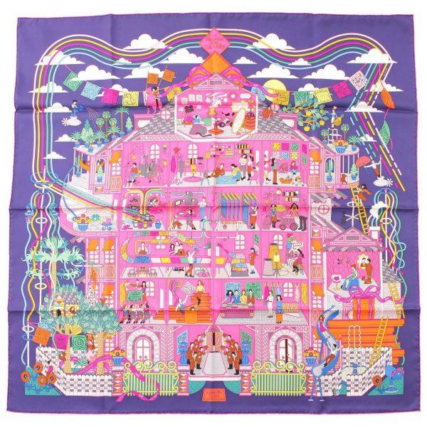エルメス カレ90 シルクスカーフ La Maison des Carres メゾン・デ・カレ