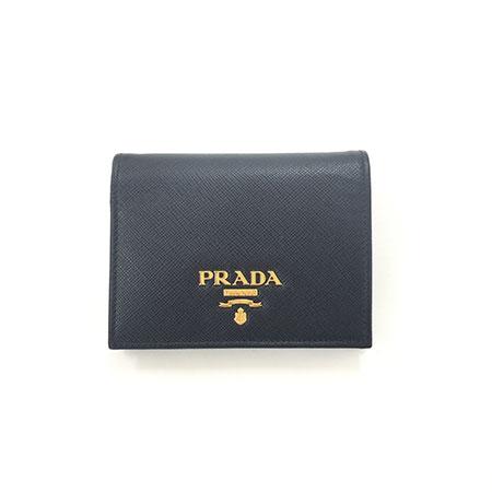 プラダ サフィアーノ 二つ折り財布 ブラック 1MV204