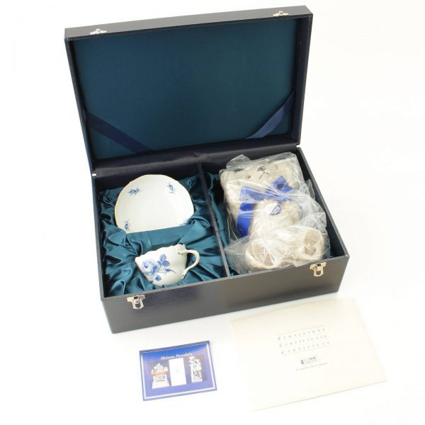 シュタイフ × マイセン 2000年限定品 テディベア カップ&ソーサー セット