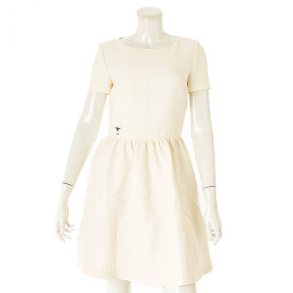 クリスチャンディオール ビー ドレス ワンピース オフホワイト