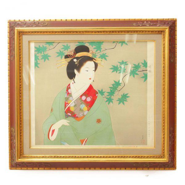 上村松園『清韻』木版画 モモセ版 300枚限定版