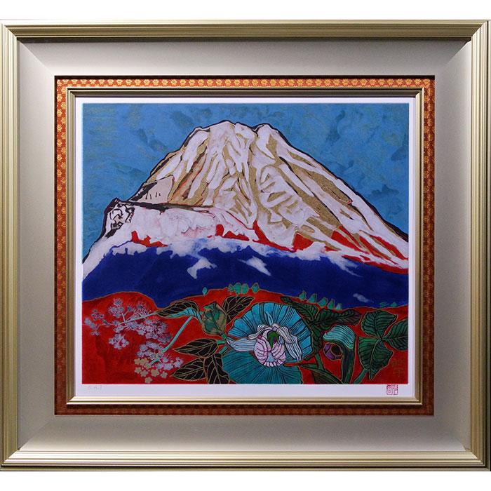 片岡珠子「めでたき御殿場の富士」リトグラフ