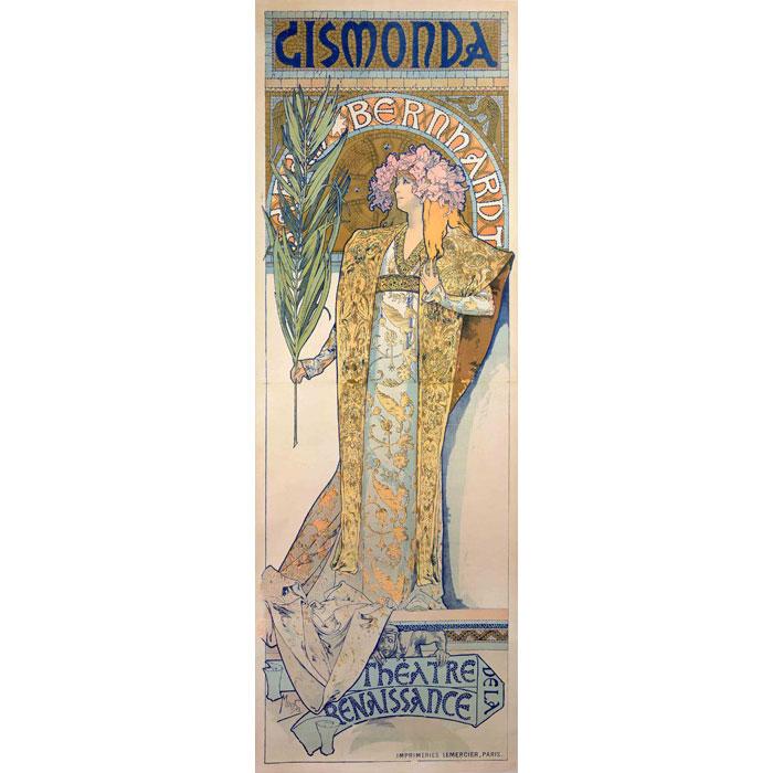 ミュシャ「ジスモンダ」リトグラフ 1897年 財団版エスタンプ