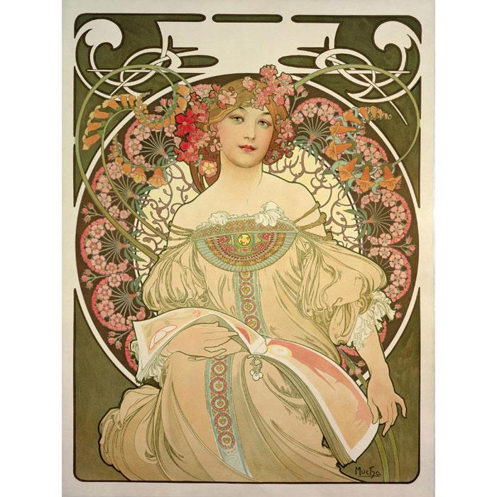 ミュシャ「夢想」リトグラフ 1897年 財団版エスタンプ