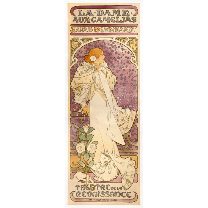 ミュシャ「椿姫」リトグラフ 1897年 財団版エスタンプ