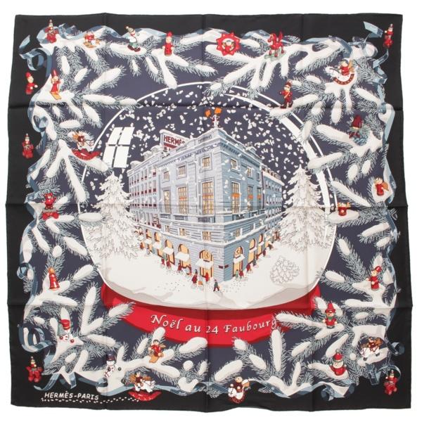 エルメス フォーブル 24番地のクリスマス カレ90 スカーフ