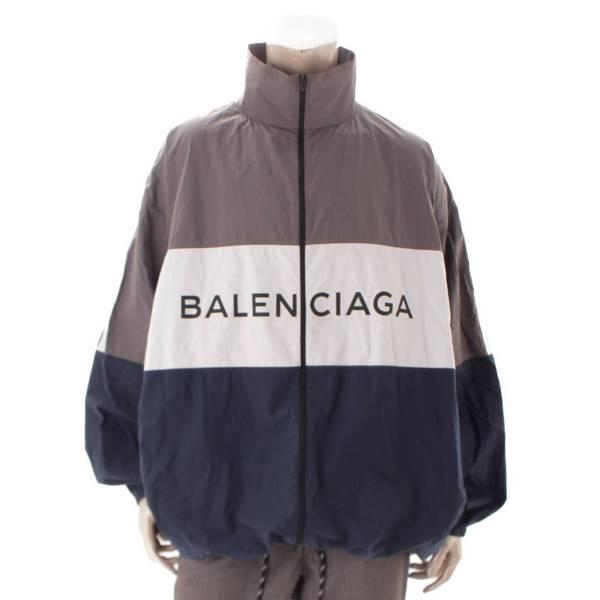 バレンシアガ メンズ 18SS ポプリンシャツ トラックジャケット