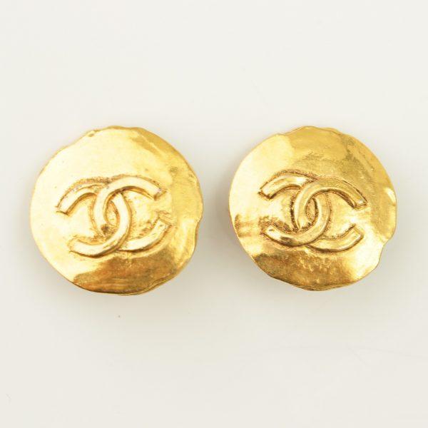 シャネル 丸ロゴ ココマーク イヤリング ゴールド