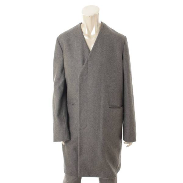 マルニ メンズ ノーカラー ロングコート