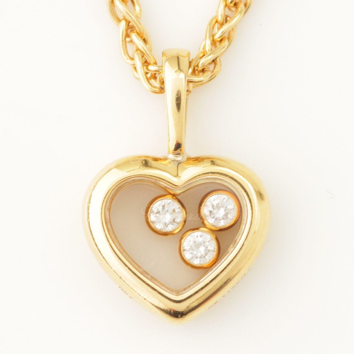 ショパール ハッピーダイヤモンド 3PD ネックレス K18 750