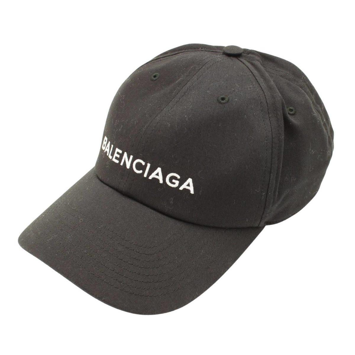 バレンシアガ ロゴ ベースボールキャップ 452245 ブラック L58