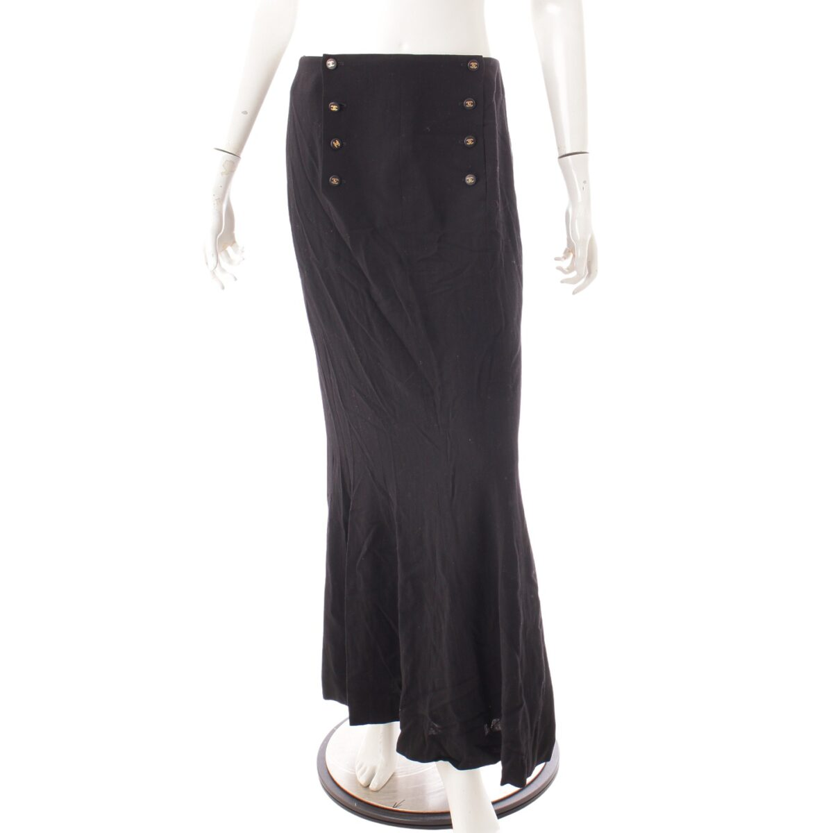 シャネル 96P ヴィンテージ ココマーク P07506 ウール スカート
