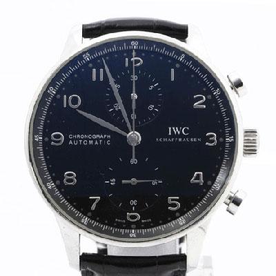 IWC ポルトギーゼ クロノグラフ 黒文字盤